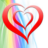 Heart On Background Shows Art Design Or Creative Shape — Stockfoto