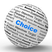 Choice Sphere Definition Shows Confusion Or Dilemma — Stock Photo