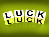 Luck Blocks Refer to Fortune Destiny or Luckiness — Stock Photo