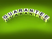 Guarantee Blocks Show Pledge of Risk Free Guaranteed — Stock Photo