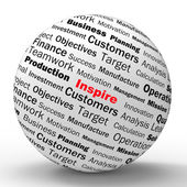 Inspire Sphere Definition Means Motivation And Positivity — Stock Photo