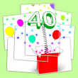 Number Forty Surprise Box Displays Unexpected Celebration Or Par — Stock Photo #47265669