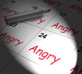 Angry Calendar Displays Fury Rage And Resentment — Stock Photo