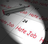 Hate Job Calendar Displays Miserable At Work — Stock Photo