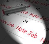 Hate Job Calendar Displays Miserable At Work — Stock Photo