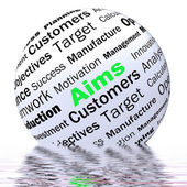 Aims Sphere Definition Displays Business Goals And Objectives — Foto de Stock