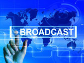 Broadcast Map Displays International Broadcasting and Transmissi — Stock Photo
