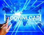 Download Map Displays Downloads Downloading and Information Tran — Stock Photo