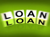 Loan Blocks Displays Funding Lending or Loaning — Stock Photo