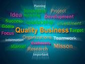 Quality Business Brainstorm Displays Excellent Company Reputatio — Stock Photo