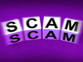 Scam Displays Fraud Scheme to Rip-off or Deceive — Stock Photo