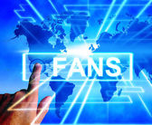 Fans Map Displays Worldwide or International Followers or Admire — Stock Photo