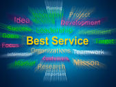 Best Service Brainstorm Displays Steps For Delivery Of Services — Stock Photo