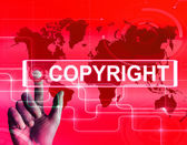 Copyright Map Displays International Patented Intellectual Prope — Stock Photo