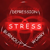 Stress Depression Worry and Anxiety Displays Burnout — Stock Photo