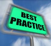 Best Practice Sign Displays Better and Efficient Procedures — Stock Photo