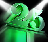 Golden Twenty Five On Pedestal Displays Twenty Fifth Movie Anniv — Stock Photo