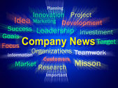 Company News Brainstorm Displays Whats New In Business — Stock Photo