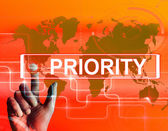Priority Map Displays Superiority or Preference in Importance Wo — Stock Photo