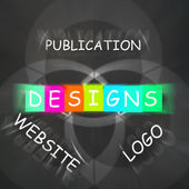 Web design Words Displays Designs for Logo Publication and Websi — Stock Photo