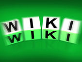 Wiki Blocks Displays Wikipedia and Internet Faqs — Stock Photo