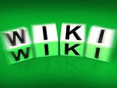 Wiki Blocks Displays Wikipedia and Internet Faqs — Stock Photo