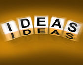 Ideas Blocks Displays Thoughts Thinking and Perception — Stock Photo
