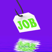 Job On Hook Displays Professional Employment Or Occupation — Stock Photo