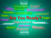 Are You Ready Brainstorm Displays Prepared For Business — Stok fotoğraf