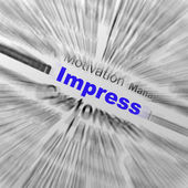 Impress Sphere Definition Displays Satisfactory Impression Or Ex — Stock Photo