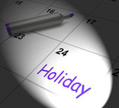 Holiday Calendar Displays Rest Day And Break From Work — Stock Photo