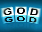 God Blocks Displays Deities Gods or Holiness — Stock Photo