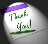 Thank You! Notebook Displays Acknowledgment Or Gratefulness — Stock Photo