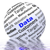 Data Sphere Definition Displays Digital Information Or Database — Stock Photo