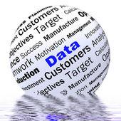 Data Sphere Definition Displays Digital Information Or Database — Stock Photo