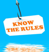 Know The Rules On Hook Displays Policy Protocol Or Law Regulatio — Stock Photo