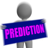 Prediction Sign Character Displays Future Forecast And Destiny — Stock Photo