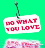 Do What You Love On Hook Displays Inspiration And Motivation — Stock Photo