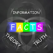 Words Displays to Information Truth Theory and Fact — Stock Photo