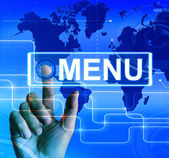 Menu Map Displays International Choices and Options — Stock Photo