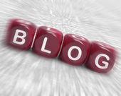 Blog Dice Displays Writing News Marketing Or Opinion — Stock Photo