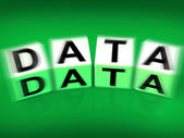 Data Blocks Displays Info Technology or Database — Stock Photo