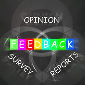 Feedback Displays Reports and Surveys of Opinions — Stock Photo