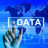 Data Map Displays an International or Worldwide Database — Stock Photo