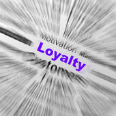 Loyalty Sphere Definition Displays Honest Fidelity And Reliabili — Stok fotoğraf