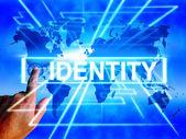 Identity Map Displays Internet or International Identification o — Stock Photo