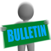 Bulletin Sign Character Displays Bulletin Board Or Announcement — Stock Photo