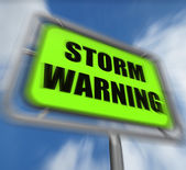 Storm Warning Sign Displays Forecasting Danger Ahead — Stock Photo