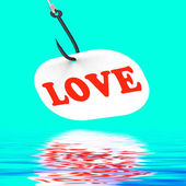Love On Hook Displays Romantic Seduction Or Flirting — Stock Photo