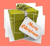 Merry Christmas Gift Displays Xmas And Seasons Greetings — Stock Photo